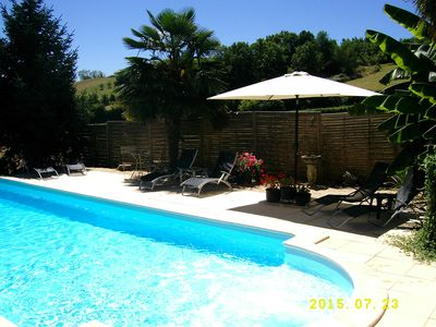 Photo for Country Cottage with Fabulous Views. PRIVATE Heated Pool.  WIFI.  Pets Welcome!