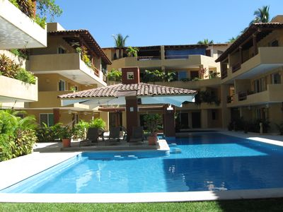 Photo for Beautiful 3rd Floor Condo In Zihuatanejo At Playa La Ropa Beach
