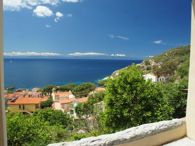 Photo for Panoramic position with views of mountains and sea, embedded in mediterrrane Macchia