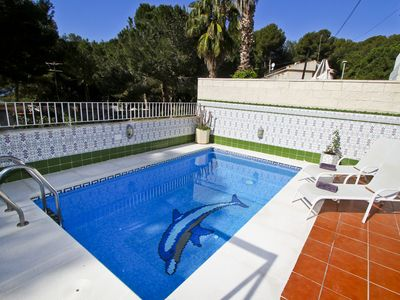 Photo for MEDITERRANEA with private pool, 20m from the beach