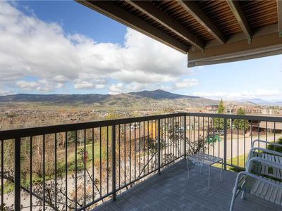 Photo for Summer Valley Views From Private Balcony of a Bright, Cozy Condo! Hot Tubs!