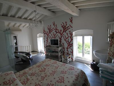 Photo for Romatic fisherman's house with sea view & terrace, 80m from the sea, free Wi-Fi