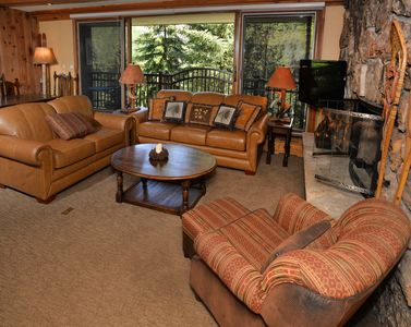 Photo for Vail Village with Mountain and Creek Views - Walk to slopes with hot tub