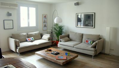 Photo for Beautiful modern 3 room apartment (2 bedrooms) in the city center