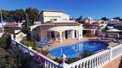 Photo for Sunny 3BR Villa w/ Endless Views & Heated Pool - Walk to Beach & Dining