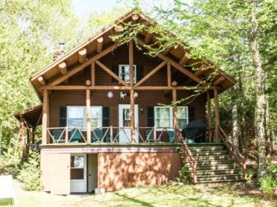 Photo for Cozy, dog-friendly, waterfront cabin with lake views & dock - private location!