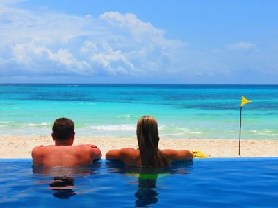 Photo for Private Beach Front Villa with Infinity Pool and Full Staff! $500.F&B Included