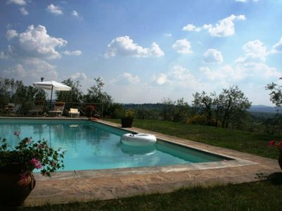 Photo for Casale Elisa is a wonderful stone cottage situated on a hill with splendid views over the valley of Arezzo and the beginning of the Valley of Casentino.