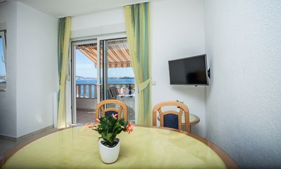 Photo for Lovely apt for 4, balcony, sea view, beach at 50m