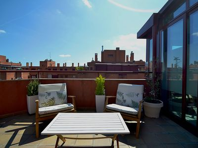 Photo for Beautiful penthouse with a large terrace, just 10 mins from Madrid City Center