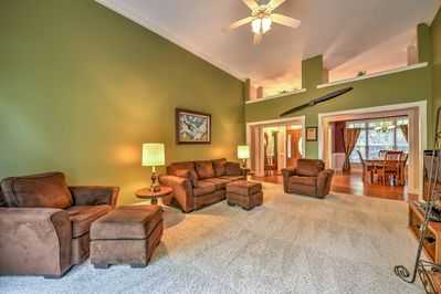 You'll love the tall ceilings throughout.