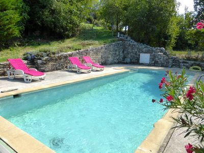 Photo for Charming house with private pool, near the Ardeche, between Provence and Languedoc