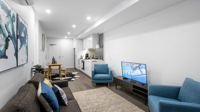 Photo for Stunning 2 Bed 2 Bath Apartment at St Kilda, Free WiFi, Carpark