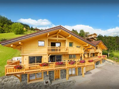 Photo for 5* Relax in the sauna or pool at this luxury Alpine chalet - OVO Network