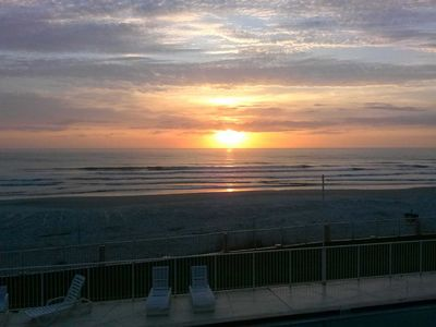 Morning sunrise from the balcony!