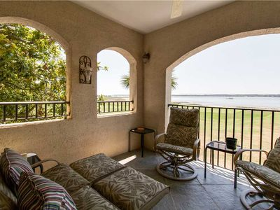 Photo for 1082 Lighthouse Villa | AMAZING 18th Green & Calibogue Sound View | Harbour Town | Beautiful Decor