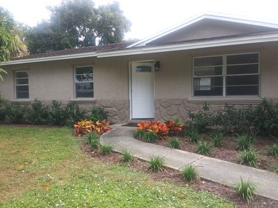 Photo for Beautiful, typical Sarasota house, with parking space,garage,backyard,grill!!!