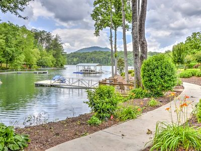 Photo for Impressive 5BR Young Harris Home w/Private Dock