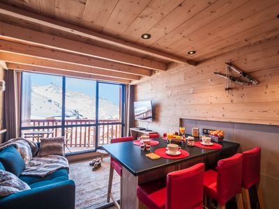 Photo for Val Thorens-Cozy Duplex 3 bedrooms foot of slopes with SI338 View ****