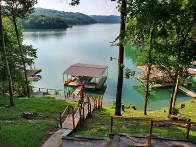 Photo for Paradise on the Point~Quiet Lakefront Home, privated covered dock, panoramic views, sleeps 19 guests