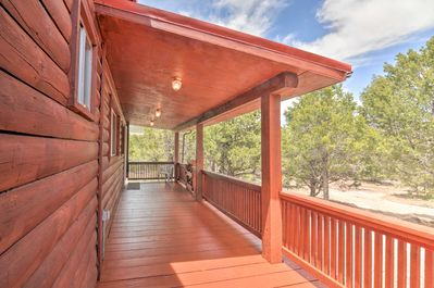 This cabin is secluded within the Boulder King Ranch Estates!