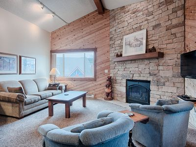 Photo for Ski-In Condo Featuring Vaulted Ceilings, On-Site Hot Tubs, Private Patios, Cover