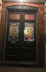 Stained Glass Front Doors on Historic Register