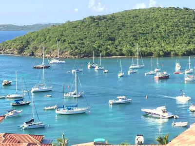 Photo for Artists Caribbean Gem Hilltop Condo With Harbor And Island Views, Walk To Town