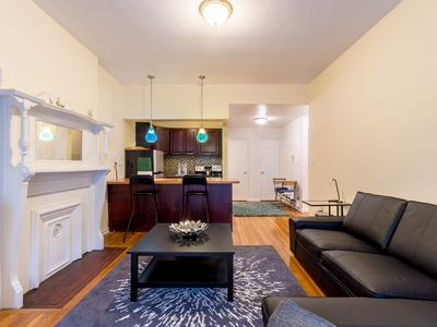 Photo for Quiet one bedroom apt one block from central park 30 DAY MINIMUM RENTAL