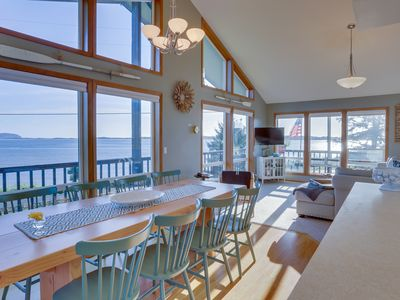 Photo for Dog-friendly bayfront home w/ stunning bay views, nearby beach access!