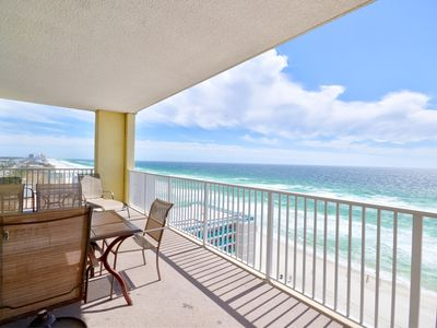 Photo for Designer Gulf front corner unit w/stunning view. Free beach service! Great rates