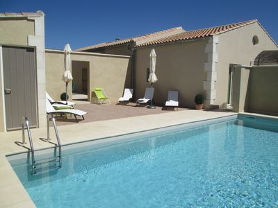 Photo for Cottage 2 to 4 people comfortably with private heated pool