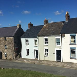 Cathedral Cottage set right in the heart of St.Davids - the sage green cottage