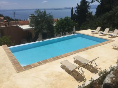 Photo for Zeus 2 pool apartment with spertacular  sea vew and swimming pool