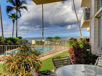 Photo for Ground Floor Oceanfront Condo - Starting @ $240.00/night - Kamaole Nalu #104