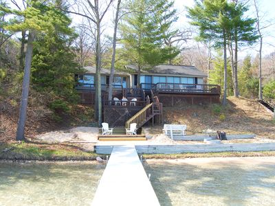 Photo for Big Glen Lake Cottage Near Downtown Glen Arbor with Fantastic Views!