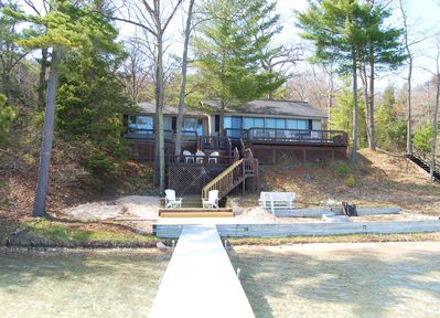 The deck and dock area!