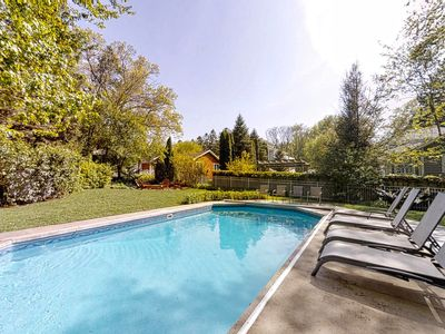 Photo for Blue Stone Cottage - Private heated pool, private beach, & basketball court!