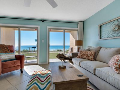 Photo for CrAzY Spring Specials!! ~Ground Floor Beachfront~Free Beach Service~Heated Pool