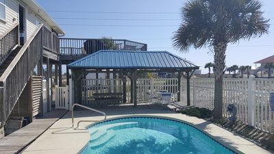 Photo for New appliances, new sofas!  Great views!  Prvt POOL, PETS, Close to Beach!