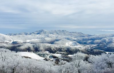 Winter view looking at Grandfather Mountain!