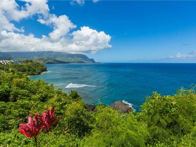 Photo for Bright and spacious two bedroom condo with ocean views on the north shore of Kauai