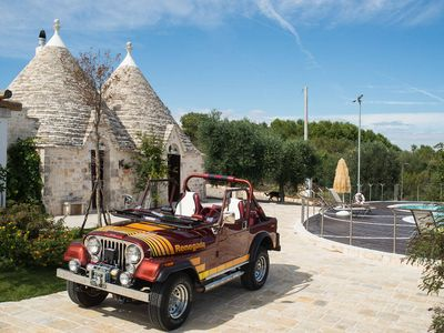 Photo for Luxury trullo, Private Pool, Air con, WiFi, Private Tennis Court, Pizza Oven
