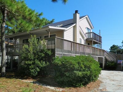 Photo for SOUNDSIDE WITH 3 BEDROOMS, PRIVATE POOL, WIFI, FOOSBALL. BRING FIDO ALONG TOO