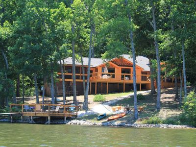 Photo for NEW LISTING! Dog-friendly, lakefront home in the woods w/ dock, private hot tub