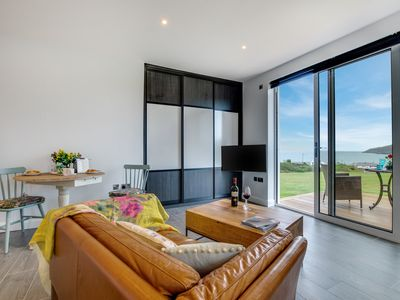 Photo for Designed around the idyllic view, this beautiful studio apartment for 2 in Aberdaron encourages you