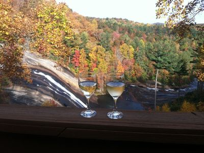 Relax and renew by the surrounding mountains and falls right from your deck!