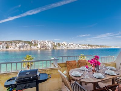 Photo for Blue Harbour 4 – Seafront 3-bedroom self catering holiday Apartment with terrace