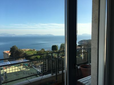 Photo for Panoramic and bright apartment on the Gulf of Naples, Capri, Vesuvius!