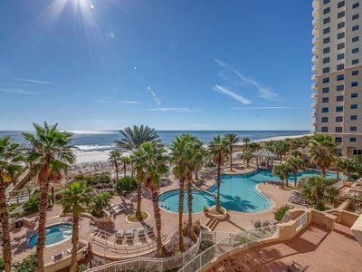 Photo for 4th Floor Bright, Beachfront Condo w/ Quick Walk To Dining and More!